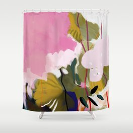 abstract jungle leaves Shower Curtain