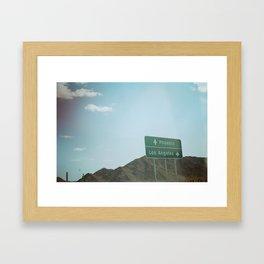 East or West  Framed Art Print