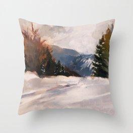 Carrabassett Valley Near Sugarloaf Throw Pillow