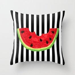 Cool Watermelon Throw Pillow