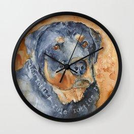 Rotties Rule Wall Clock