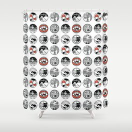 top pattern Shower Curtain
