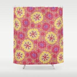 Kantha floral 7 Shower Curtain