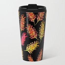 Cute Australian Native Floral Illustration Travel Mug