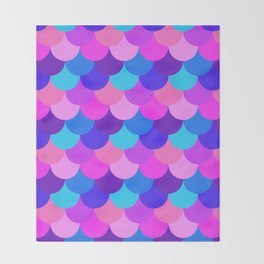 Scalloped Confetti in Electric Orchid Multi Throw Blanket