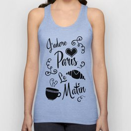 Retro Morning Paris Unisex Tank Top