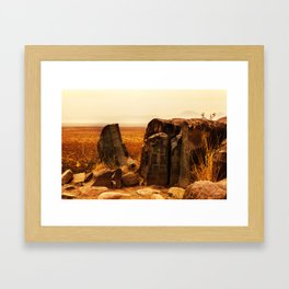 Tularosa view Framed Art Print