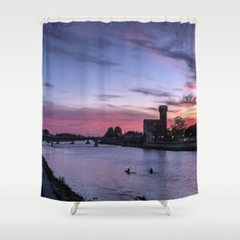 Sunset at Pisa, Italy  Shower Curtain