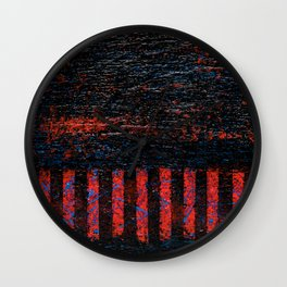 Barbed Wire (Black Abstract) Wall Clock