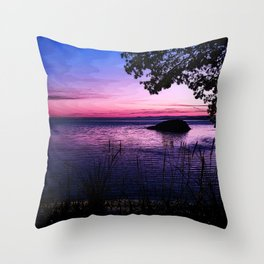 Gloaming at Deception Pass Throw Pillow