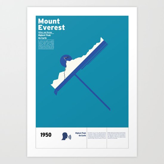 Mount Everest Art Print