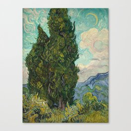 Cypresses - Van Gogh Canvas Print