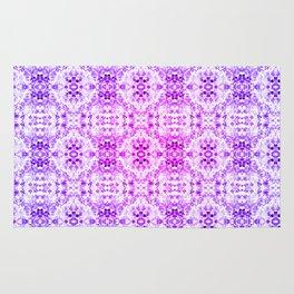 Floral Print - Magenta & Purple Rug