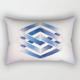 Floating Geometry :: Winter Hexagon Rectangular Pillow