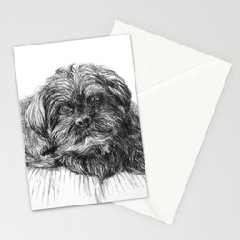 Shih Poo Resting Stationery Cards