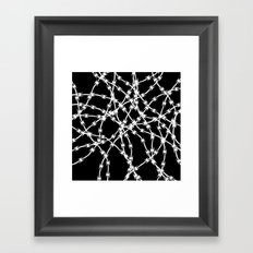 Trapped White on Black Framed Art Print
