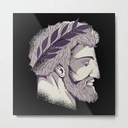 Roman Head History Teacher Historians Metal Print