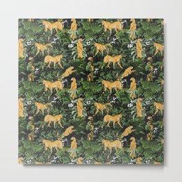 Cheetah in the wild jungle Metal Print