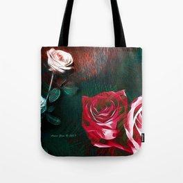 Roses Digital Art By Annie Zeno Tote Bag