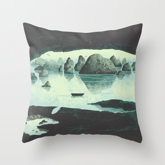 In the Belly of a Beast Throw Pillow