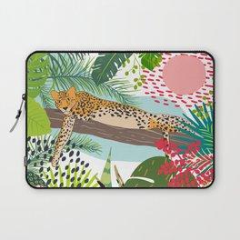 Leopard Art, Colorful, African Animals Art Laptop Sleeve