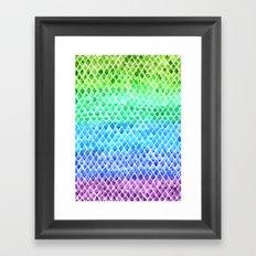 Gradient Scales Framed Art Print
