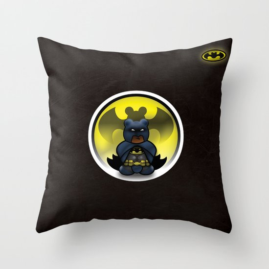 Super Bears - the Moody One Throw Pillow