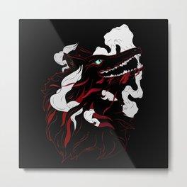 Black Evil Wolf Metal Print