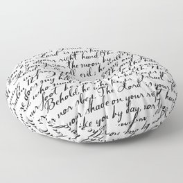 Psalm 121 Floor Pillow