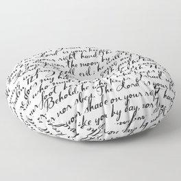 Psalm 121 Floor Pillow