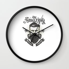 Muscle Stache Wall Clock