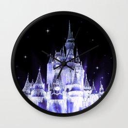 Enchanted Castle Periwinkle Lavender Wall Clock
