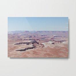 Hazy Desert Canyon Landscape Metal Print