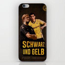Borussia Dortmund Retro-Vintage Poster iPhone Skin