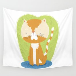 Tommy The Cat Wall Tapestry