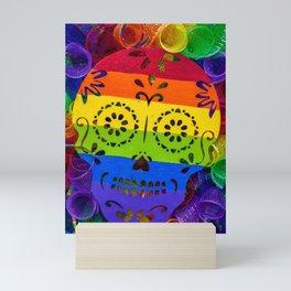 Rainbow Sugar Skull Mini Art Print