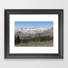 Pyramid Peak Framed Art Print