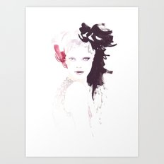 Fashion illustration in watercolors Art Print