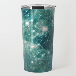 Teal Blue Galaxy Travel Mug