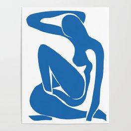 Matisse Cut Out Figure #1 Light Blue Poster