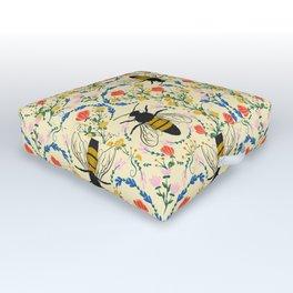 Bee Garden - Cream Outdoor Floor Cushion