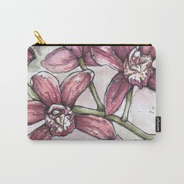 Orchids - Watercolor and Ink artwork Carry-All Pouch