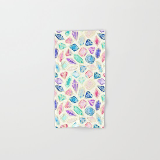 Watercolor Gems Intense Hand & Bath Towel