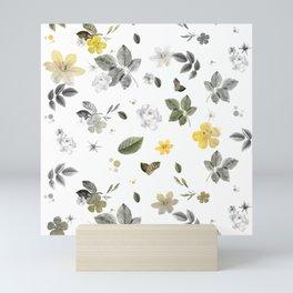 Yellow Flowers & White Roses 8 Mini Art Print