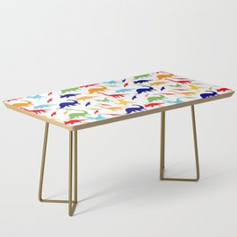 Colorful Dinosaurs Pattern Coffee Table