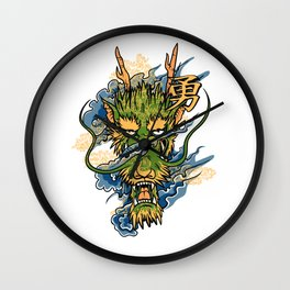 Japanese Dragon Head Wall Clock
