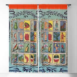 Mexican Bingo Loteria Blackout Curtain