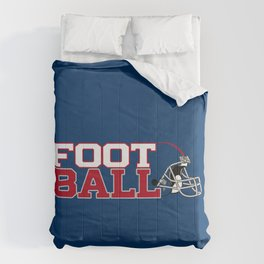 Football in Blue and Red Comforters