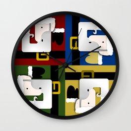 All Color Santa Wall Clock