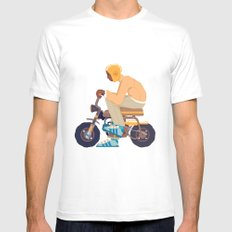 #2 HONDA Z50 White MEDIUM Mens Fitted Tee
